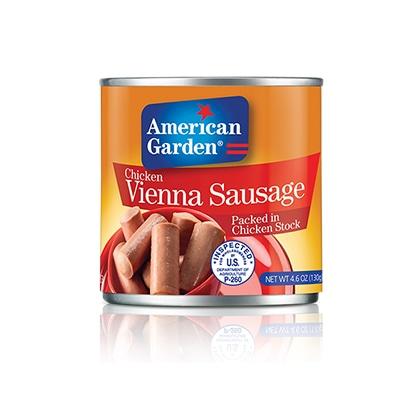 مقانق فيينا الدجاج من أميريكان جاردن بالصور