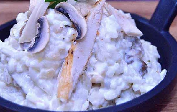 Chicken mushroom risotto picture