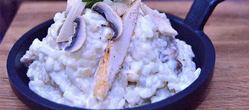 Chicken mushroom risotto picture