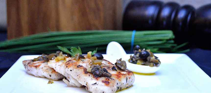 Fish with lemon butter sauce picture