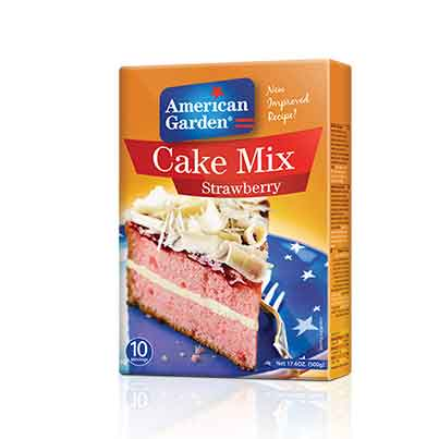Picture of American Garden Cake Mix Strawberry
