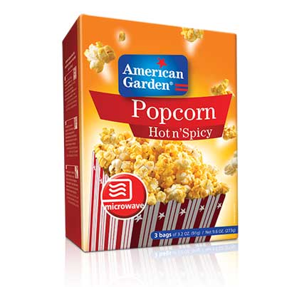 Picture of American Garden Microwave Popcorn Hot N Spicy