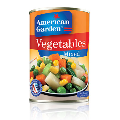 Picture of canned mixed vegetables