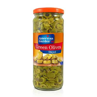 Picture of American Garden Green Olives Sliced Drained