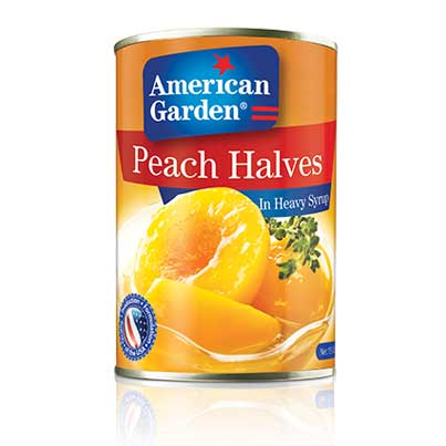 Picture of peaches halves from American Garden