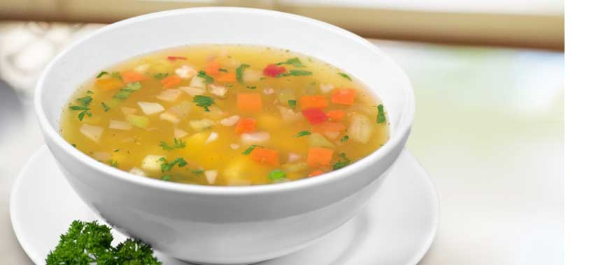 Vegetable clear soup picture