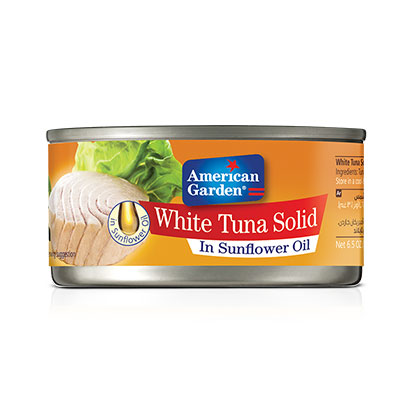 Picture of white tuna meat in oil