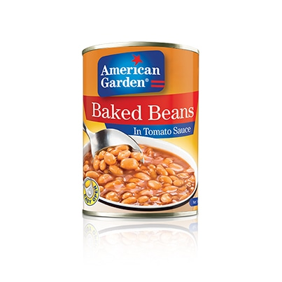Picture of baked beans with tomato sauce