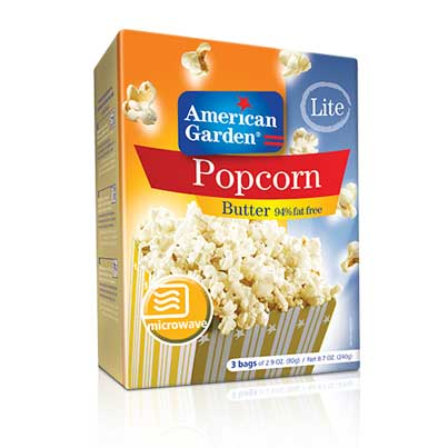 Picture of American Garden Microwave Popcorn Butter Fat Free