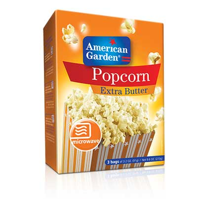 Picture of American Garden Microwave Popcorn Extra Butter