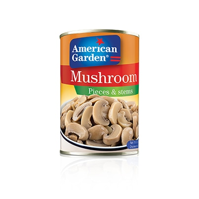 Picture canned pieces and stems mushrooms
