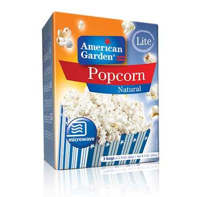 Microwave Popcorn Natural Light | American Garden
