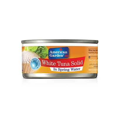 Picture of canned white Solid Tuna in water