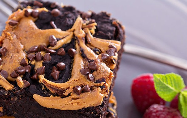 Picture of peanut butter brownies