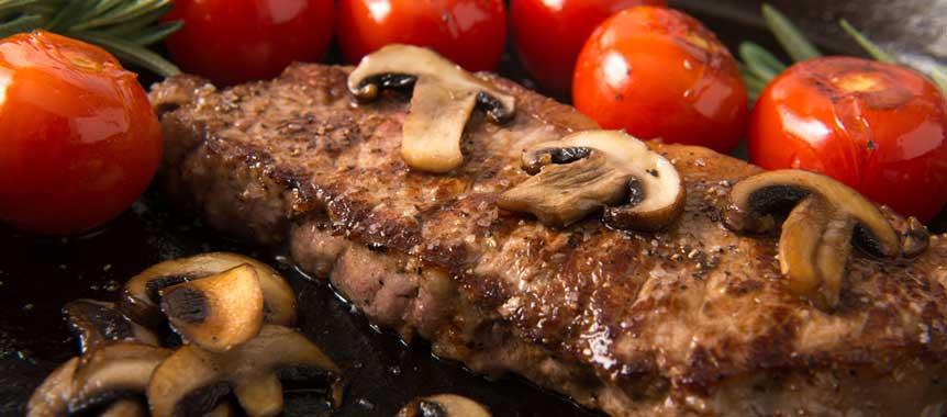 Steak with mushroom sauce picture