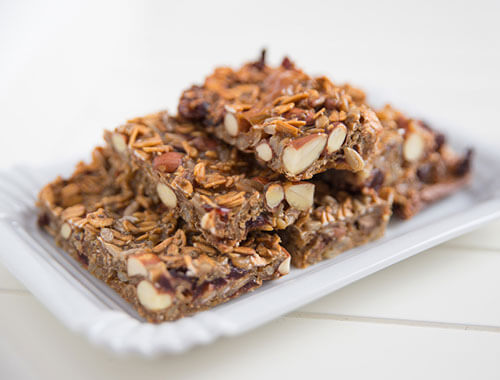 Peanut butter cereal bar