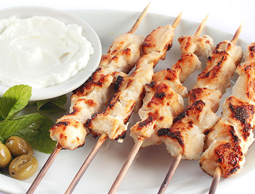 Shish Tawook skewers