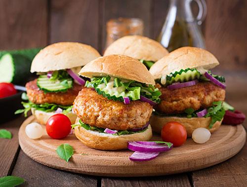 Mini chicken burger