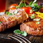 Grilled sirloin steaks