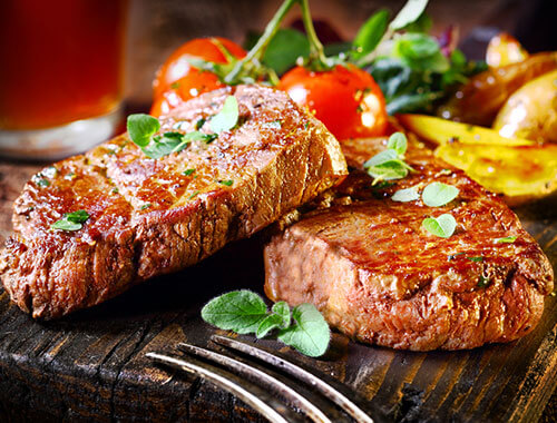 Grilled sirloin steaks