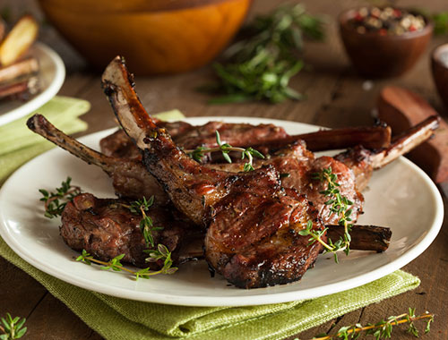 لحم ضأن مشوي
