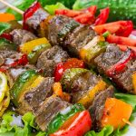 Grilled meat cubes