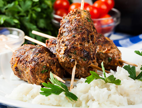 Lamb Kebab skewers