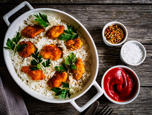 Chicken-Nuggets-with-Fried-Rice